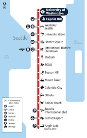 light rail map seattle link service to uw starts march 19 what does it for