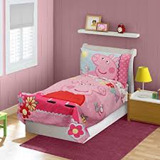toddler bed blanket amazon com peppa pig adoreable toddler bed set pink baby