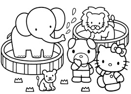 kitty zoo coloring free printable coloring pages