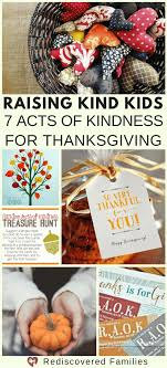 raising 7 acts of kindness for thanksgiving