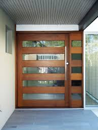 Front Door Modern Exterior Extraordinary Horizontal Wood And Glass Stripes For