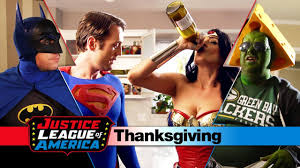 happy thanksgiving gifs an awkward justice league thanksgiving youtube