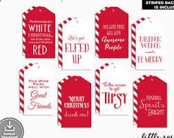 Christmas Wine Printable Wine Tags Holiday Wine Tags Christmas Wine Tags