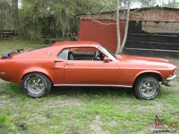1969 mustang orange mustang gt 390 fastback 4 speed console disc brakes burnt