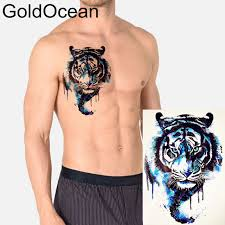 blue water color king tiger temporary for hth196 boy