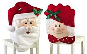 christmas chair covers mr mrs santa claus christmas kitchen chair covers