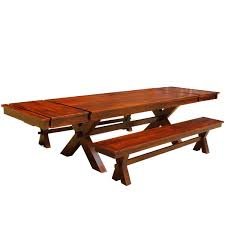 picnic style dining table bench set with extensions