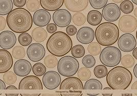 vector retro tree rings pattern illustration free