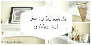 How To Decorate a Mantel two purple couches