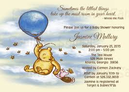 Classic Pooh Baby Shower Favors Classic Winnie The Pooh Baby Shower Invitations Sansalvaje Com