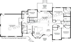 plan for house ranch style bungalow plans rectangle single level house plans