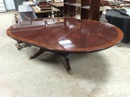 Custom Built Dining Room Tables by Custom 78 Inch Round American Made Dining Table With Leaves