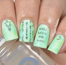 playful polishes sharpie nail art geometric nails born pretty