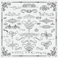 vintage swirls ornaments with corner vector 01 vector