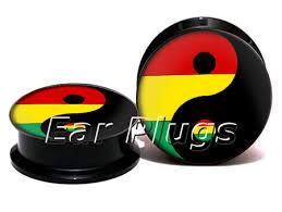 aliexpress yang wholesale rasta yin yang plug gauges acrylic screw ear plug flesh