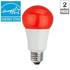 disco light bulb home depot tcp 40w equivalent a15 household led light bulbs red 2 pack