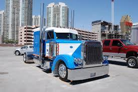 peterbilt trucks wallpaper lorry peterbilt light blue cars front