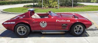police corvette red corvette raises green for our heroes in blue senior life