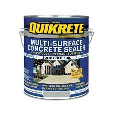 shop quikrete gallon multi surface concrete sealer at lowes com