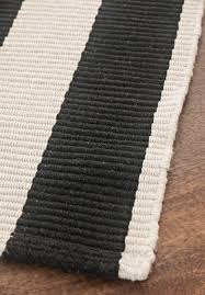 Black White Striped Rug Bold Stripe Black White Eco Cotton Rug Hook U0026 Loom