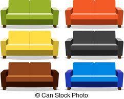 divano ottomano colorato divano set isolato collezione divano vettori