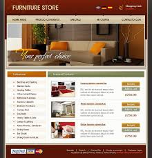 website template 21913 furniture store online custom website