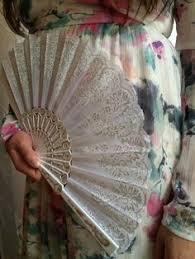 held fans for wedding white held fan outlines silver by yonderwindow