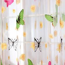 Panel Curtain Room Divider by Butterfly Print Curtains Sheer Window Panel Curtains Room Divider