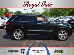 light green jeep cherokee 2012 jeep grand cherokee overland 4x4 in black forest green pearl