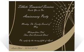 Invitation Card Formats Brown Background Corporate Anniversary Invitation Card Sample For