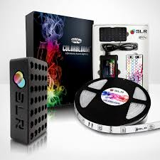 home theater led lighting amazon com colorbloom 150 multi color changing starter led strip