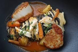 equinox cuisine tagiatelle with saffron scallops picture of equinox washington dc