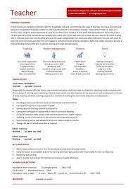 teaching cv template job description teachers at cv