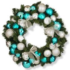 national tree company 30 in silver and blue ornament artificial