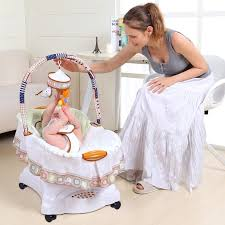 Baby Sleeper In Bed Aliexpress Com Buy Musical Baby Cradle Electric Shaking Crib