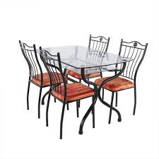 Rod Iron Dining Room Set Glass Top Dining Table With Wrought Iron Base Wood Throughout