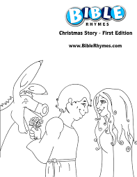 donkey coloring mary joseph biblerhymes u0027 christmas