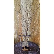 Wedding Wishes Tree Sale Bling Manzanita Tree Centerpiece Silver Glitter Bling