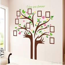 Large Wall Stickers For Living Room by Large Size Family Photo Frames Love Tree Wall Stickers Diy Home