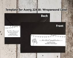 printable address template for envelope labels avery 2 x