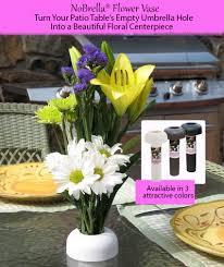 Umbrella Hole Ring Set nobrella patio table flower vase umbrella hole insert gifts by kaz