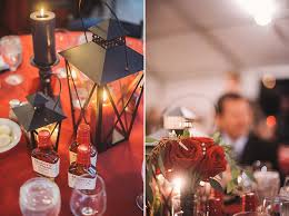 used wedding centerpieces maker s bottles can also be used to give a personality
