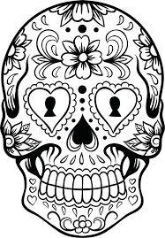 printable coloring pages sugar skulls skull stencil printable printable coloring sheets sugar skull