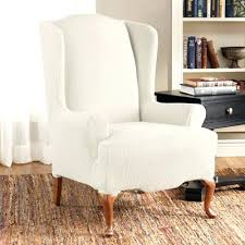 white wing chair slipcover wingback chair slipcover wingback chair slipcovers square cushion