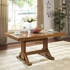 shop walker edison antique brown wood extending dining table at