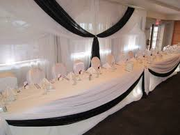 double layer black and white wedding decor set the mood decor