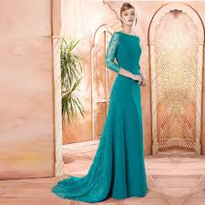 modern mother of the bride dresses tea length with sleeves online get cheap teal formal dress aliexpress com alibaba group