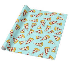 pepperoni pizza wrapping paper zazzle