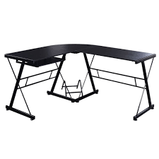 L Shaped White Computer Desk by L Shaped Glass Corner Computer Desk Ashley Furniture Home Office
