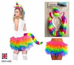 Rainbow Halloween Costume Ladies Rainbow Magical Unicorn Halloween Fancy Dress Tutu Girls